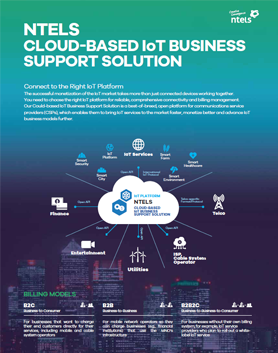 NTELS Cloud-Based IoT Business Support Solution Brochure